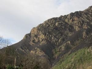 Monte en Caranga quemado. Foto de Txuma Abarzuza
