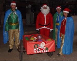 Papa Noel durante el año pasado en Selviella