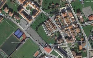 Imagen aérea de Google en la zona de la promoción urbanística del contencioso