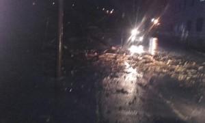 El árbol cayó en la zona de El Gortay