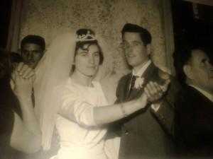Luisa el día de su boda