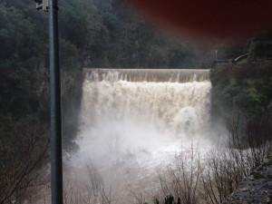 Foto facilitada por el Ayuntamiento de Somiedo sobre el nivel de los ríos ayer