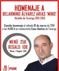 Cartel del homenaje a Mino Álvarez