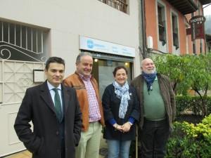 De izda. a dcha. Pedro de Rueda, Ángel Lagar, Carmen Arias y