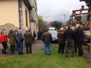 Un momento del funeral / Foto de Santiago Álvarez