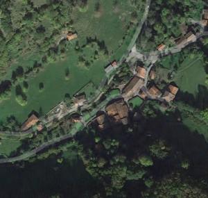 Vista aérea de Barrio de Google Maps