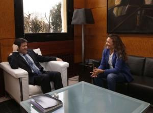 Un momento de la entrevista / Foto Armando Álvarez