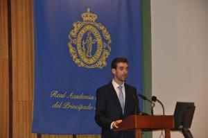 Rubén Cabanillas en su discurso / Foto de Beatriz Álvarez