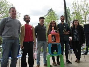 De izda. a dcha: José Luis Trabanco, Carlos Comendador, Rodrigo Cuevas, Sheila Suárez, Hugo Sánchez y  Elsa Suárez