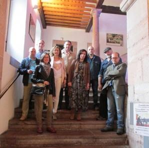 Los miembros del jurado Moscón de Oro Local 2016, antes de las deliberaciones