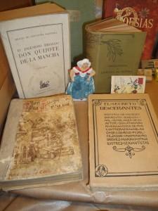 Algunos de los libros que se expondrán