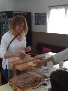 Votando en Belmonte