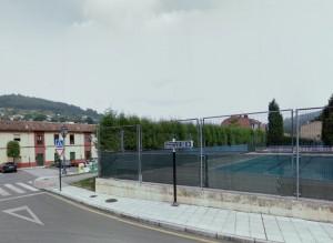 Zona de la piscina, en donde se situará la estación medidora
