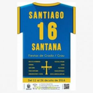 Cartel de las fiestas de Santiago y Santana 2016