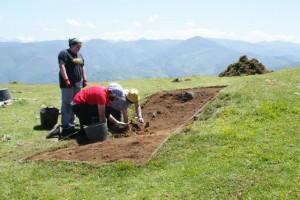 Trabajos arqueológicos en Vigaña (Belmonte)