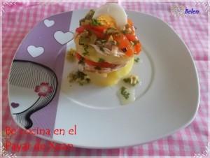 Ensalada de patata, pimientos y bonito