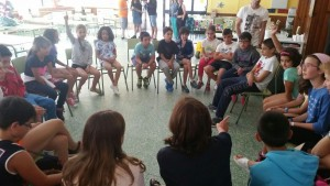 Primera reunión de los niños