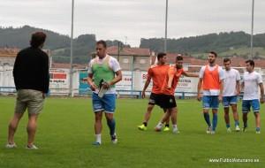 Momento en el que se lesionó Camboya / Foto Fútbol Asturiano