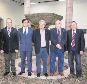 Junta directiva de la Asociación de Amigos de Grado, que organiza la Semana Cultural