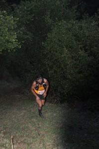 El corredor gallego, vencedor de la prueba, en plena ascensión / Foto de Beatriz Álvarez