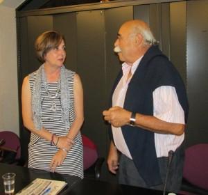 Beatriz Arias junto a Claudio Menéndez de la Riera