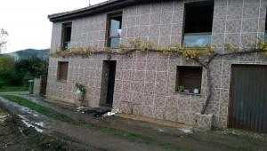 La casa afectada, esta mañana / Foto de Esther Martínez