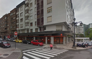 Calle Joaquin Blume, en Oviedo, en donde se produjo el accidente